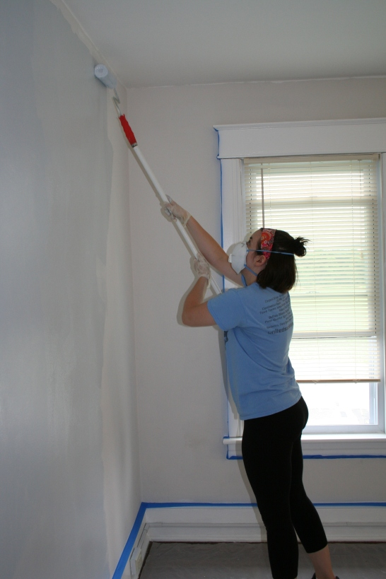 Me! Painting the Guest Bedroom