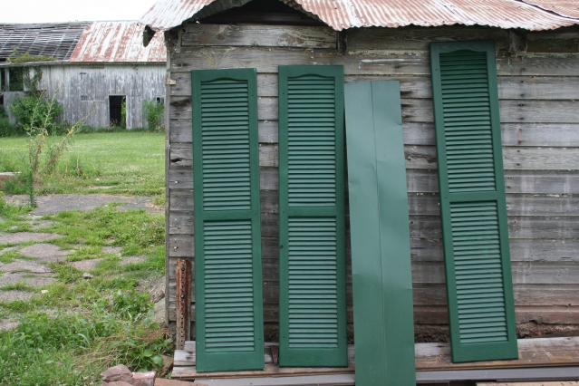 Shutters - matched to roof